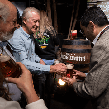 Barrel Tapping and Kunstmann Kneipe Beer Bar Viña del Mar